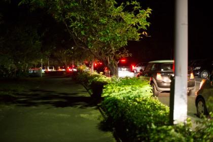 帰路、車の渋滞